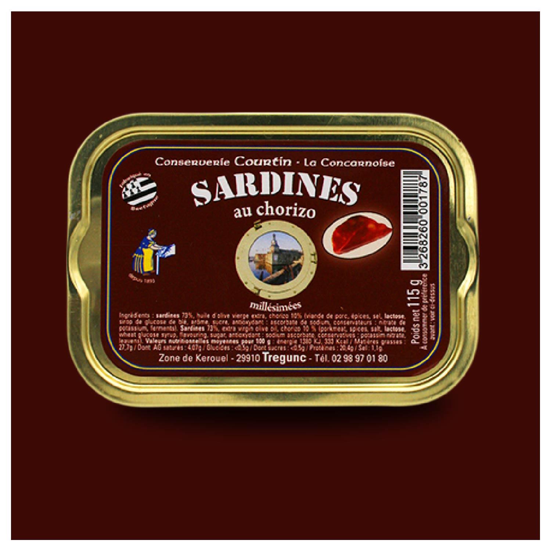 Sardines met chorizo Conserverie Courtin